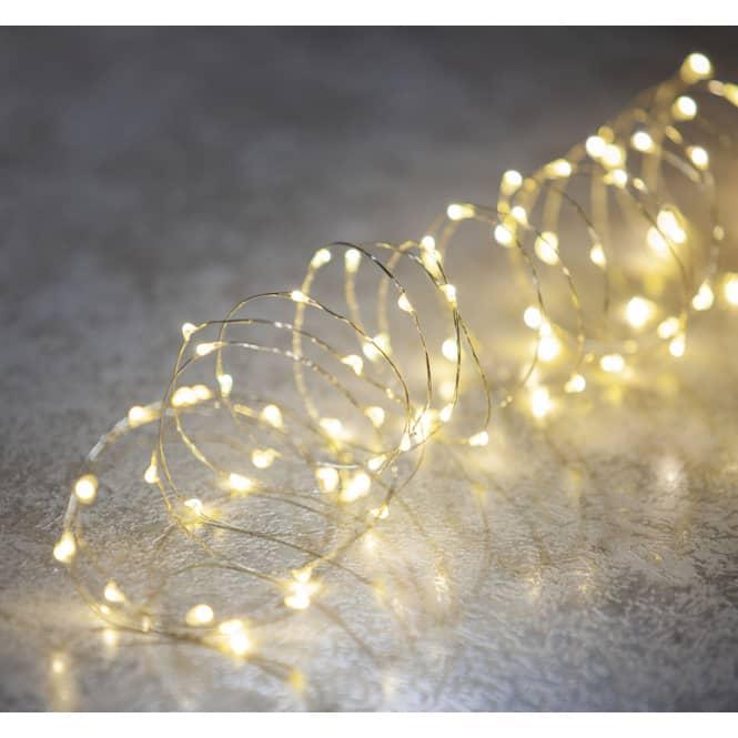 100er LED-Lichterdraht - 5 m - warmweiß