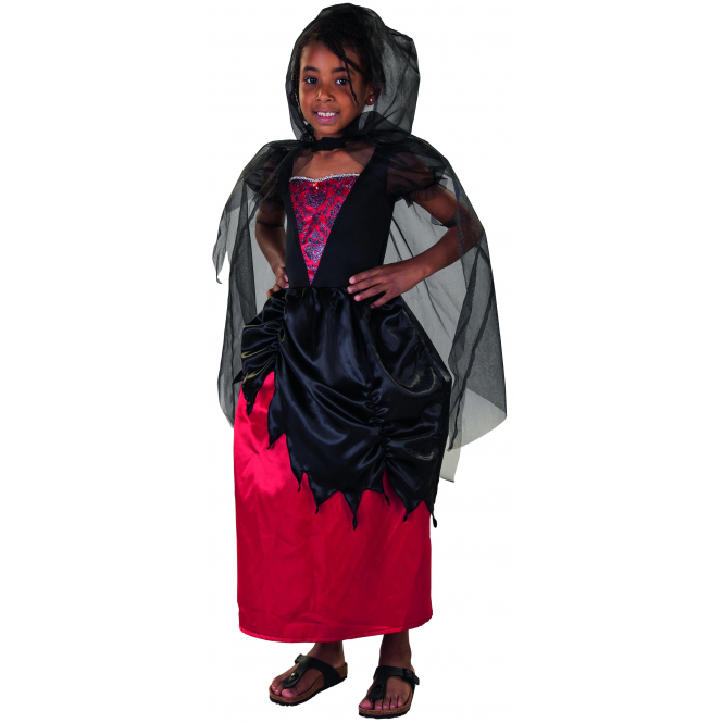 Kostüm - Vampirprinzessin - für Kinder - 2-teilig - verschiedene Größen