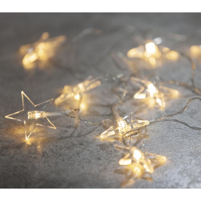 10er LED-Lichterkette - Sterne - 135 cm Sterne