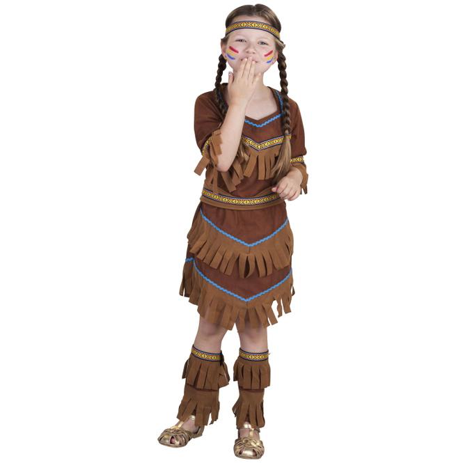Kostüm - Kleine Indianerin - für Kinder - 4-teilig - verschiedene Größen