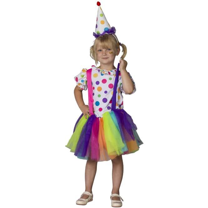 Kostüm - Clownsmädchen - für Kinder - 2-teilig - Größe 122/128