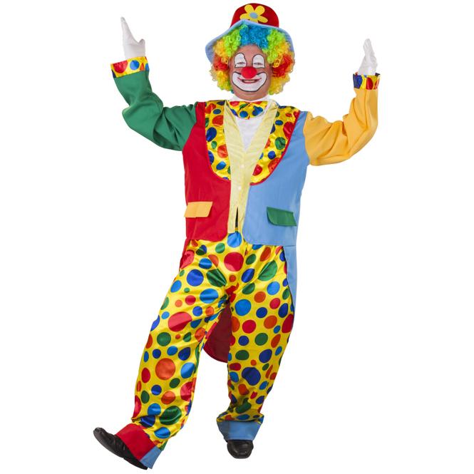 Kostüm - Clown - für Erwachsene - 3-teilig - verschiedene Größen