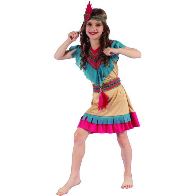 Kostüm - Indianerin - für Kinder - 3-teilig - verschiedene Größen