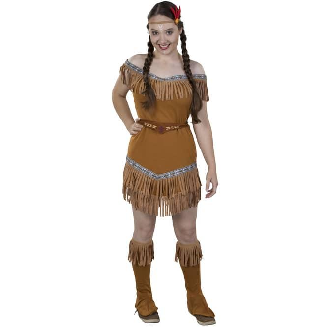 Kostüm - Indianerin - für Erwachsene - 4-teilig - Größe 40/42