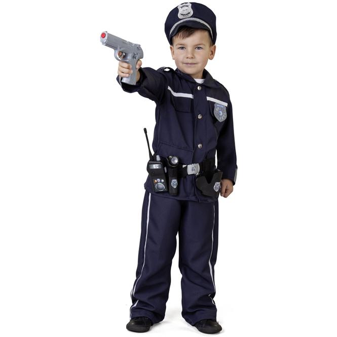 Kostüm - Polizist - für Kinder - 3-teilig - Größe 122/128