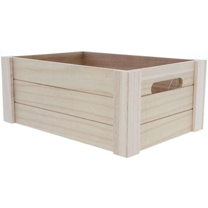 Aufbewahrungskiste - aus Holz - 31 x 22 x 13 cm