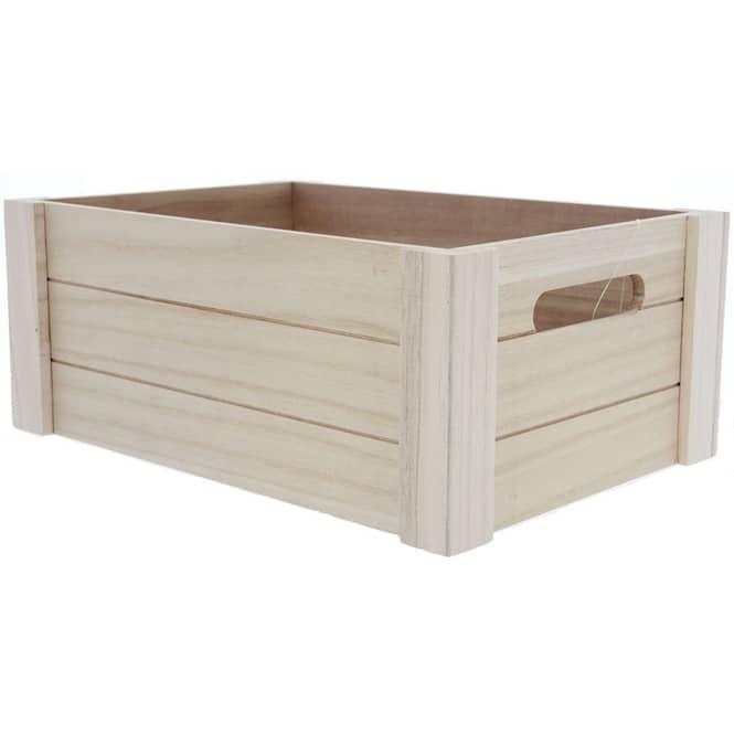 Aufbewahrungskiste - aus Holz - 36 x 26 x 15 cm