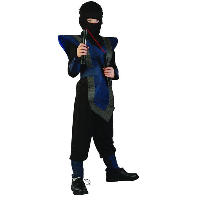 Kostüm - Ninja - für Kinder - 7-teilig - verschiedene Größen