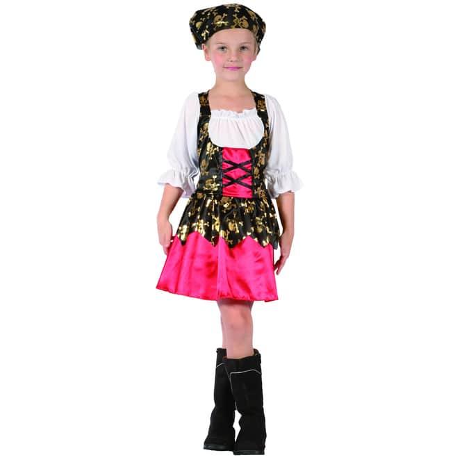 Kostüm - Piratenmädchen - für Kinder - 2-teilig - verschiedene Größen