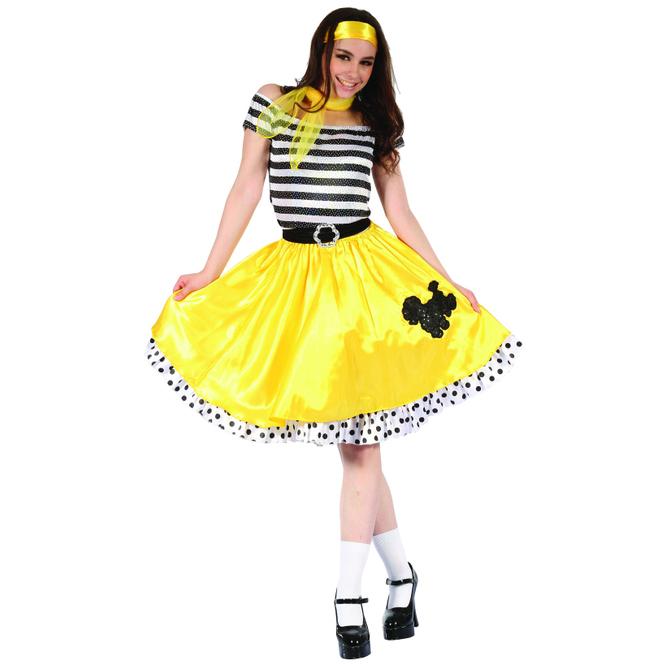 Kostüm - 60s Lady - für Erwachsene - 5-teilig - verschiedene Größen