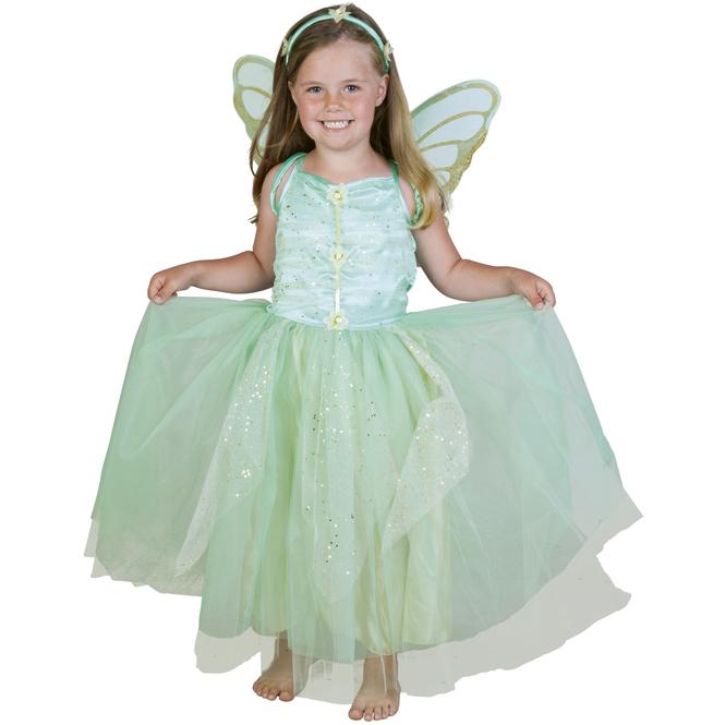 Kostüm - Grüne Blumenfee - für Kinder - 3-teilig - Größe 122/128