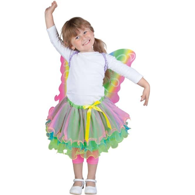 Kostüm - Regenbogenfee - für Kinder - 2-teilig