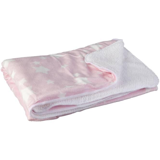 Babydecke - 75 x 100 cm - rosa