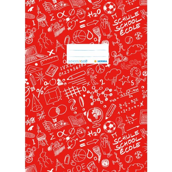 Heftschoner A4 Schoolydoo von Herma verschiedene Farben rot