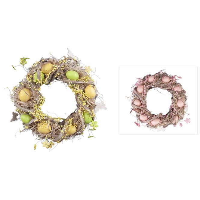 Osterkranz - aus Holz - Ø = 30 cm - verschiedene Farben
