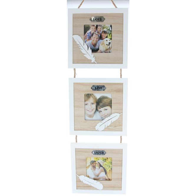 Hänge-Bilderrahmen - aus Holz - 70 x 19 x 2 cm
