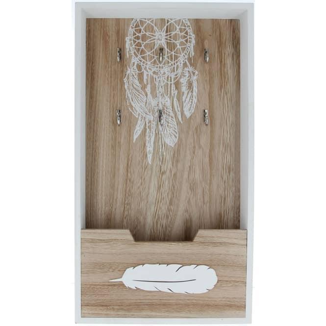 Schlüsselkasten - aus Holz - 25 x 6,5 x 45 cm