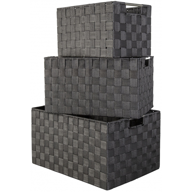 Aufbewahrungskorb - schwarz - verschiedene Größen