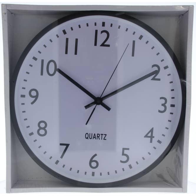 Wanduhr - Ø = 38 cm - weiß