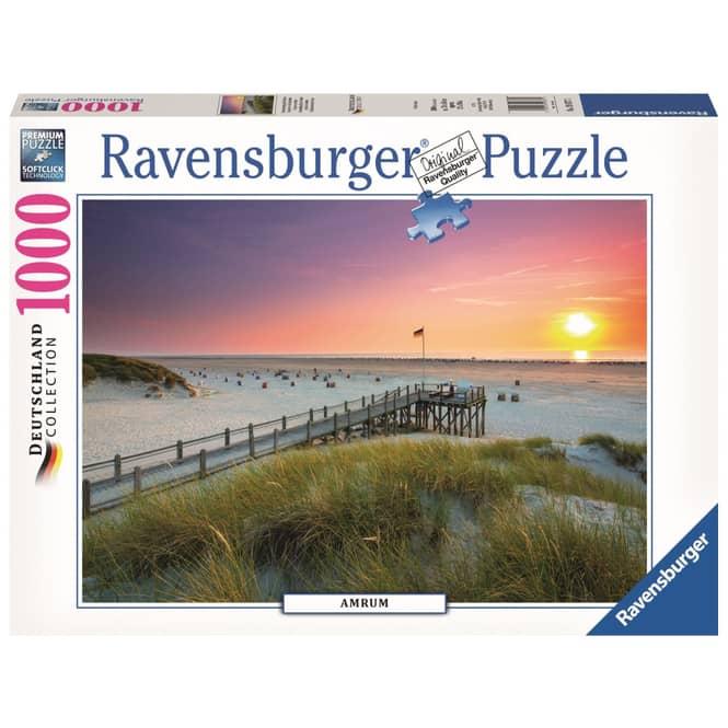 Puzzle - Sonnenuntergang über Amrum - 1000 Teile - Deutschland Collection