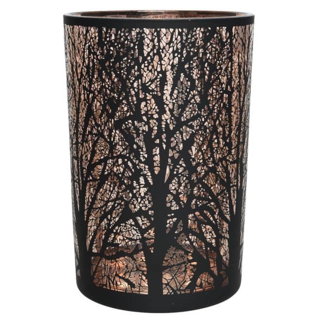 Teelichtglas - Baum - ca. 10 x 12 cm
