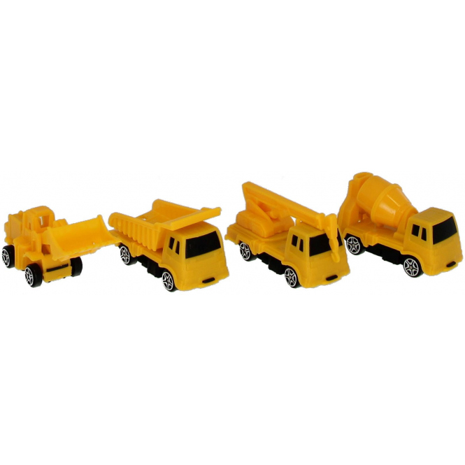 Besttoy - Baustellenfahrzeuge - 4er Set