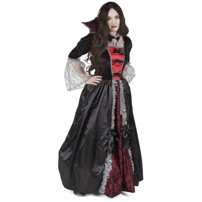 Kostüm - Vampirkönigin - für Erwachsene - 2-teilig - Größe 40/42