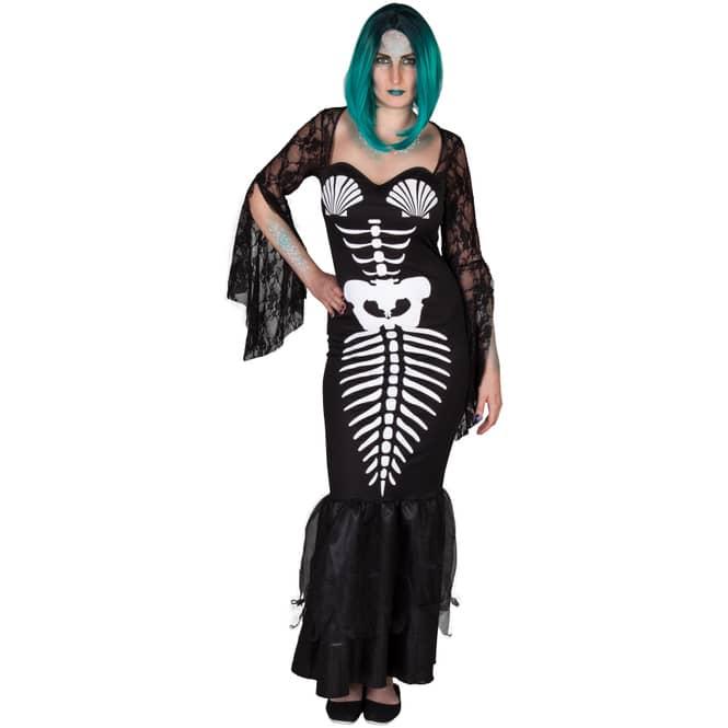 Kostüm - Skelett-Meerjungfrau - für Erwachsene - verschiedene Größen