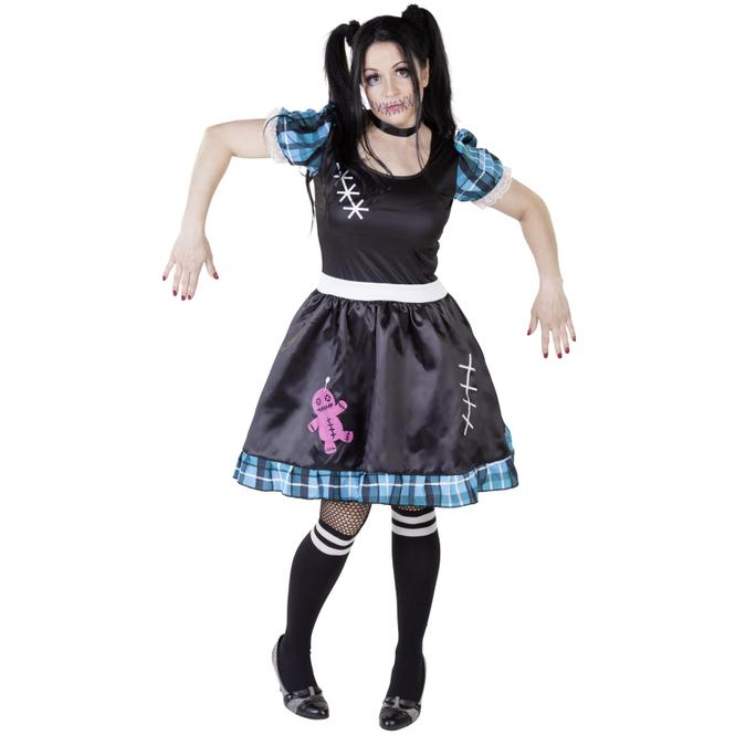 Kostüm - Voodoo-Puppenlady - für Erwachsene - 2-teilig - verschiedene Größen