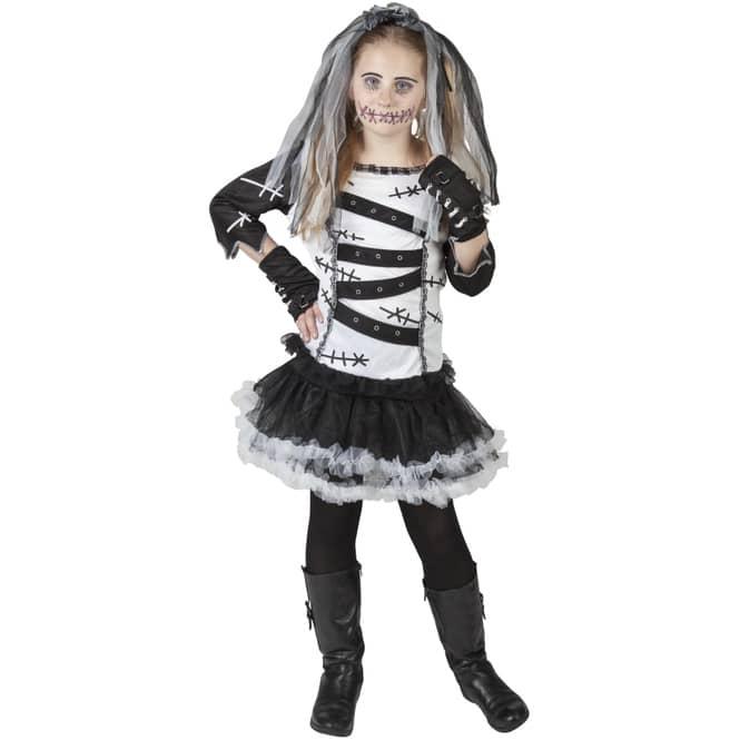 Kostüm - Voodoo-Mädchen - für Kinder - 4-teilig - Größe 158/164