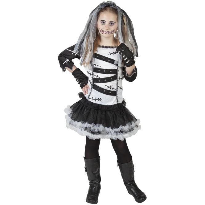 Kostüm - Voodoo-Mädchen - für Kinder - 4-teilig - verschiedene Größen