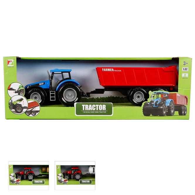 Traktor mit Anhänger - ca. 40 cm - 1 Stück