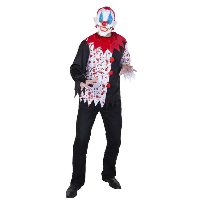 Kostüm - Blutiger Clown - für Erwachsene - Einheitsgröße