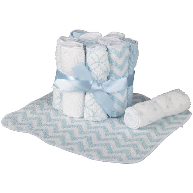 Waschtücher - 20 x 20 cm - 12 Stück - blau