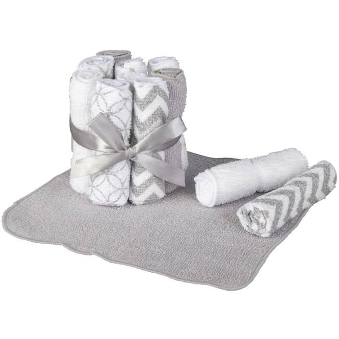 Waschtücher - 20 x 20 cm - 12 Stück - grau