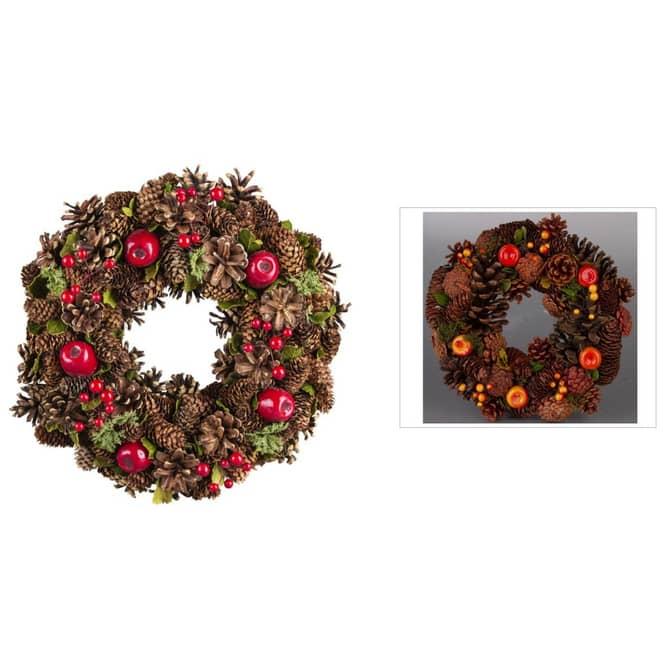 Dekokranz - aus Holz - Ø = 33 cm - verschiedene Farben
