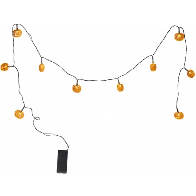 10er LED-Lichterkette - Kürbisse - 120 cm