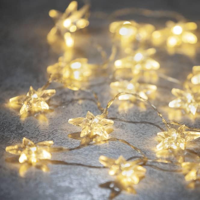 20er LED-Lichterkette - Sterne - 220 cm