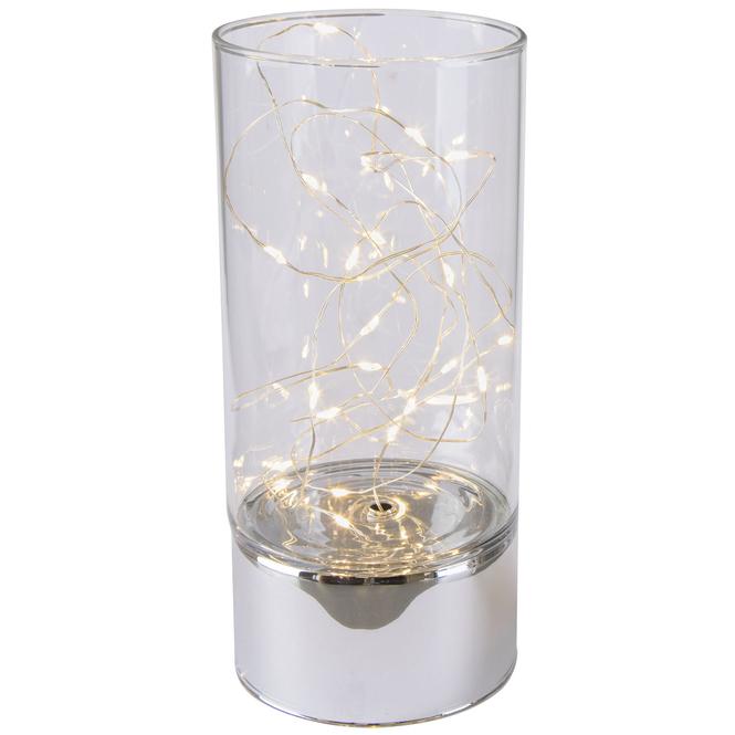 LED Säule - groß - silber, klar