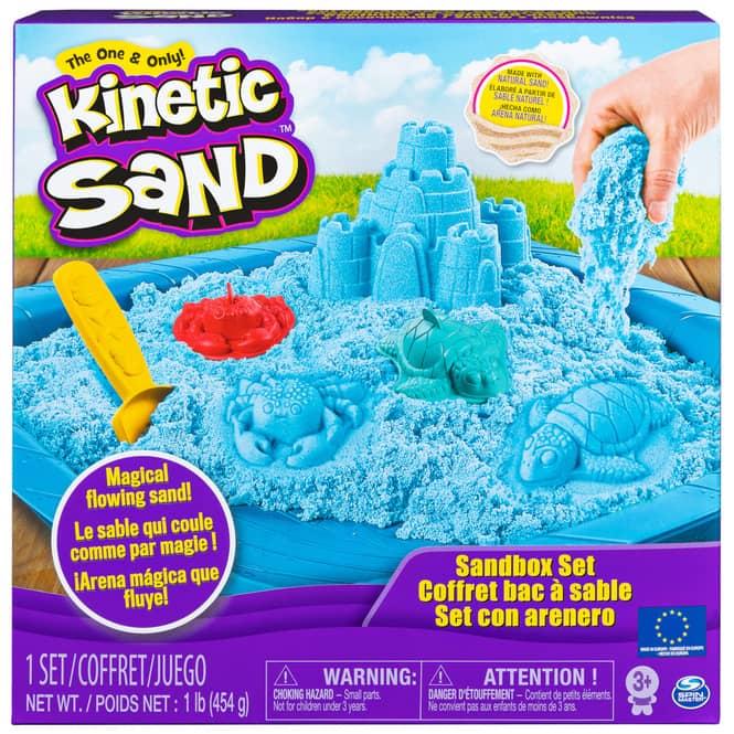 Kinetic Sand Box - Sandburg Set - blau