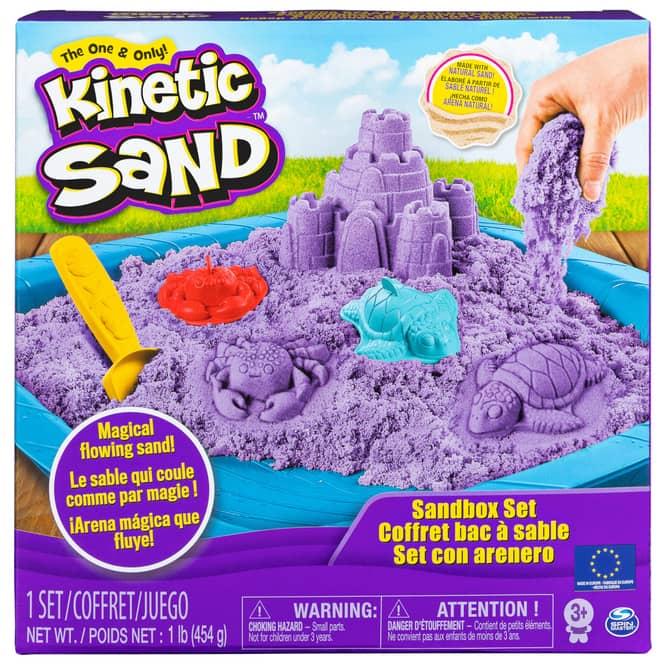 Kinetic Sand Box - Sandburg Set - lila