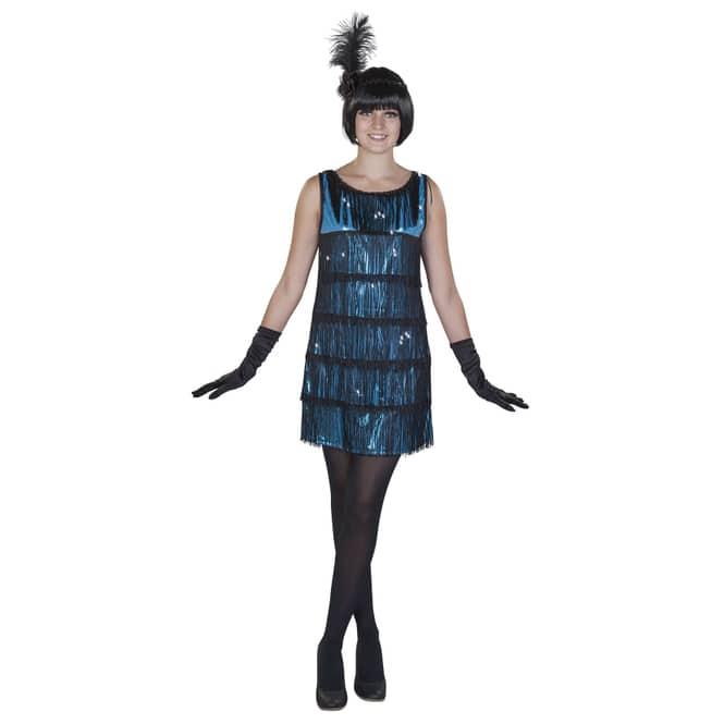 Kostüm - Charleston - für Erwachsene - 2-teilig - verschiedene Größen