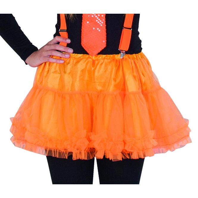Petticoat - für Erwachsene - orange - verschiedene Größen