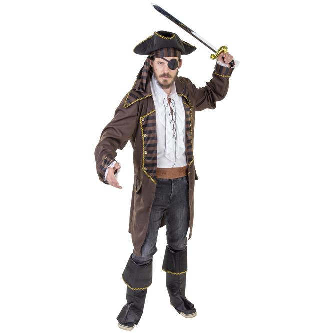 Kostüm - Piratenkapitän - für Erwachsene - 6-teilig - verschiedene Größen