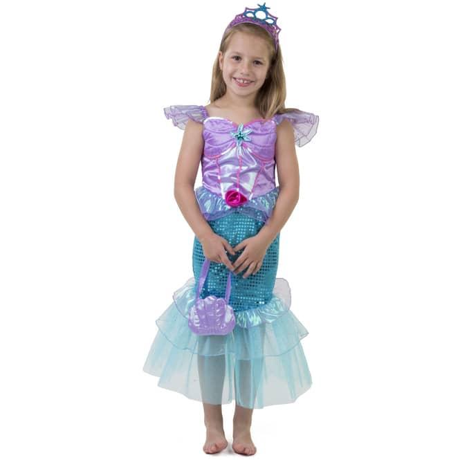 Kostüm - Kleine Meerjungfrau - für Kinder - 3-teilig - Größe 122/128