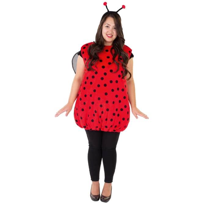 Kostüm - Marienkäfer - für Erwachsene - 2-teilig