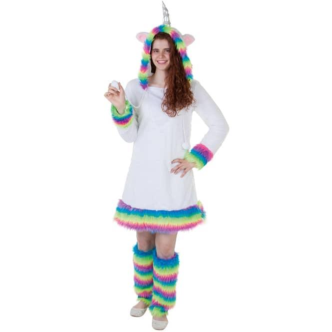 Kostüm - Einhorn - für Erwachsene - 2-teilig - Größe 40/42