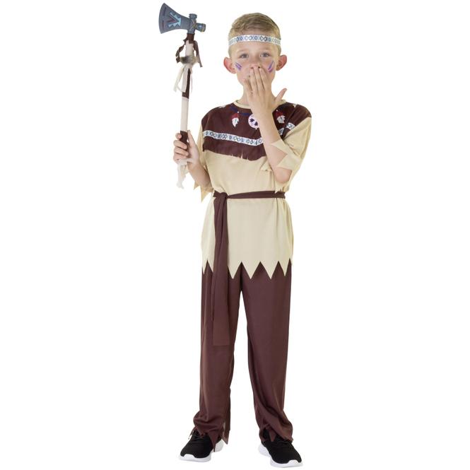 Kostüm - Indianerjunge - für Kinder - 4-teilig - Größe 122/128