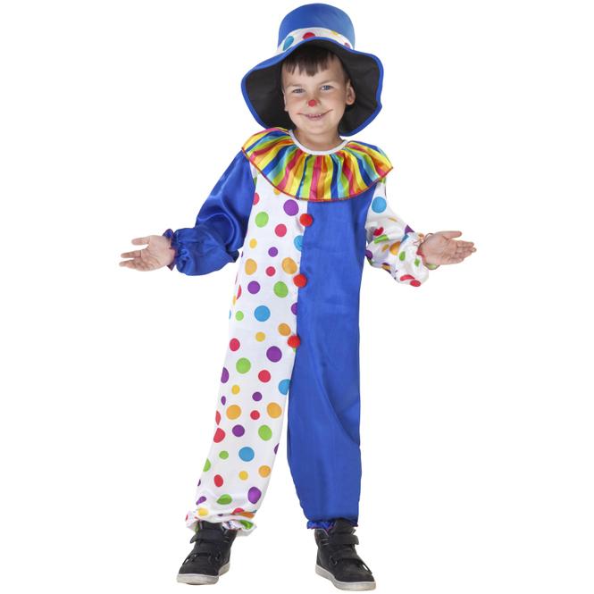 Kostüm - Kleiner Clown - für Kinder - 2-teilig - Größe 122/128