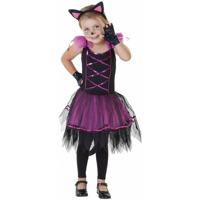Kostüm - Kleine Katze - für Kinder - 3-teilig - Größe 134/140